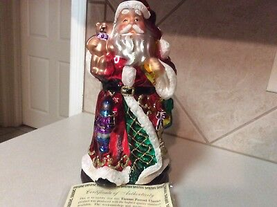 "Thomas Pacconi  - Brand New Santa ...30 Year Classic ...Blown Glass - 14"" tall"