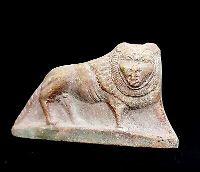 Royal Sekhmet Stela Sculpture Ancient Egyptian Antique Plaque Wall Stone Faience
