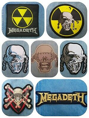 Megadeth vic rattlehead embroidered patch black thrash metal metallica anthrax