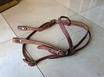 Horse Leather Western Browband Headstall