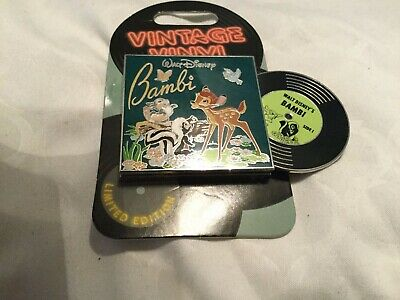 Disney Parks Vintage Vinyl Pin  -  Bambi & Friends LE 3000
