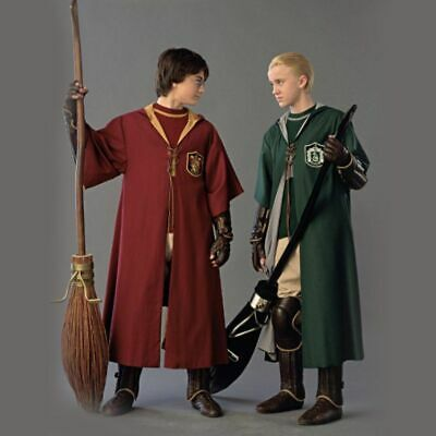 Harry Potter Gryffindor Slytherin Cloak Robe Tie Scarf Wand Cosplay Costume Set-