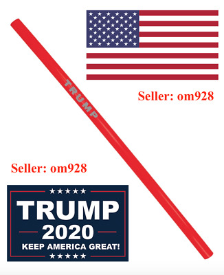 Official Trump MAGA Reusable Straws - Pack of (10) - IN HAND