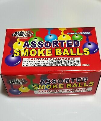 Smoke Ball Box Label Firework Labels Artwork