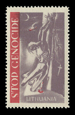 1953, Stop (Communist) Genocide In Lithuania Poster Stamp