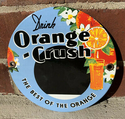 Orange crush Soda Pop Coke Motor Oil Gasoline porcelain  Sign  No reserve!!!!!