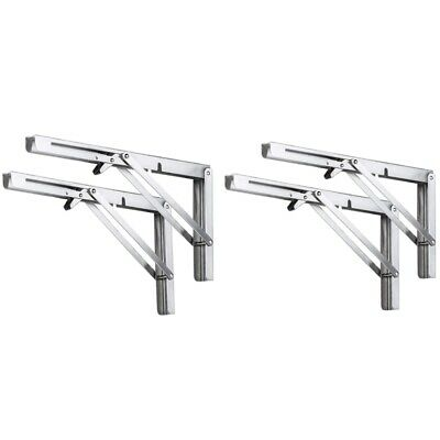 Folding Shelf Brackets Heavy Duty Stainless Steel Collapsible Wall Mounted C3C5