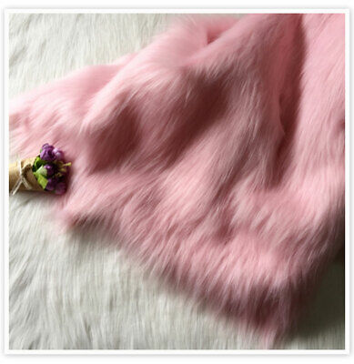 7cm long plush faux fur fabric for sofa coat DIY 160*50cm home decor USA