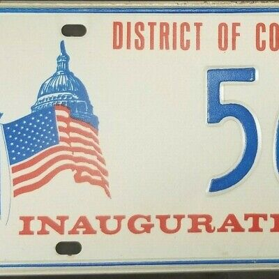 1973 D.C. Inauguration License Plate Former Congressman Clarence E. Miller Ohio