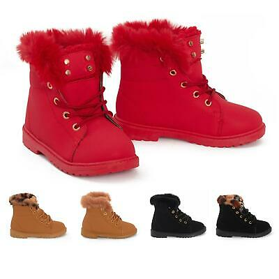 Boys Girls Suede Faux Lining Winter Warm Ankle Snow Boots Outdoor Urban Walking