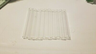 "4"" Long 10 Piece Glass PYREX Blowing Tubes 12mm OD 8mm ID Tubing 2 Mm Thick Wall"