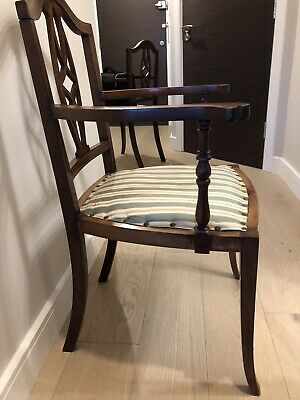 Pre War Nest of Mahogany Veneered occasional 2 X Single And 1 Double Chairs