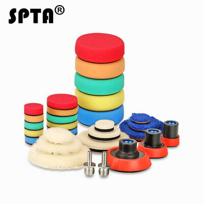 SPTA 29 Polishing Pads Buffing Pads Woolen Pads Backing Plate For Car Polisher