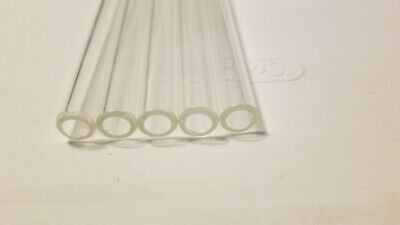 "4"" Long 5 Piece PYREX Glass Blowing Tubes 12mm OD 8mm ID Tubing 2 Mm Thick Wall"