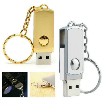 2TB Metal 3.0 USB Memory Stick Pen Flash Drive U Disk Swivel Key Chain Thumb PC