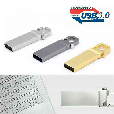 2TB USB 3.0 Flash Drive Memory Stick Metal Key Ring Chain Pen U Disk Thumb PC
