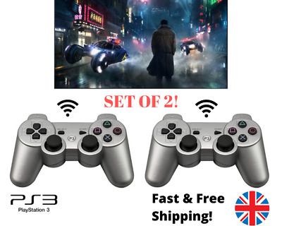 Set Of 2 PS3 Controller Gamepad Bluetooth Wireless Game Joystick PlayStation 3