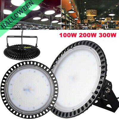 100/200/300W UFO LED High Bay Light Industrial Warehouse Factory Workshop Lamp