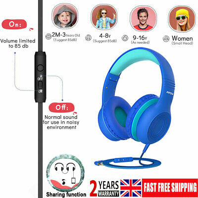 Mpow Foldable Over-ear Wired Headphones Headset w/Mic for Kids Boys Girls Teens
