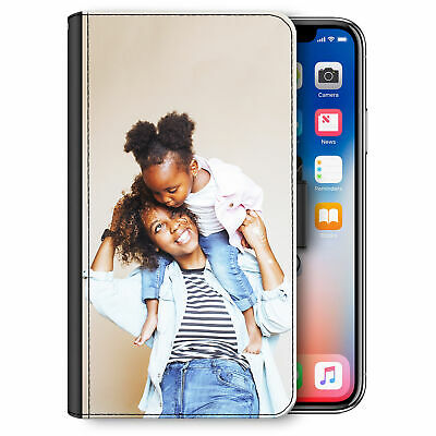 Personalised Phone Case, Custom Photo Leather Side Flip Cover For Apple/Samsung