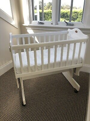 Boori Matilda rocking cradle cot and change table white Bassinet