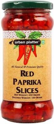 Natural & Premium Quality Red Paprika Slice Drained Spicy In Brine Chilli 350 gm