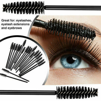 50/100PCS Eyelash Brushes Extension Disposable Mascara Applicator Lash Wands
