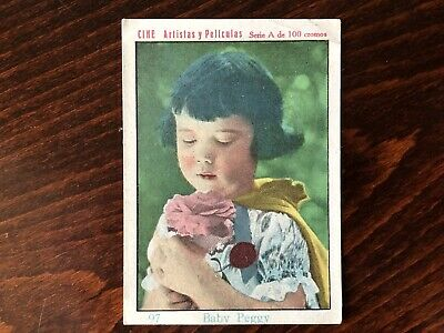 BABY PEGGY Rare Trading Card Silent Film Actress c 1920