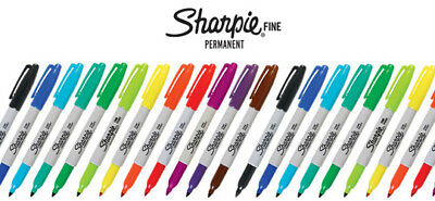 Sharpie Permanent Fine Markers - Assorted Colours