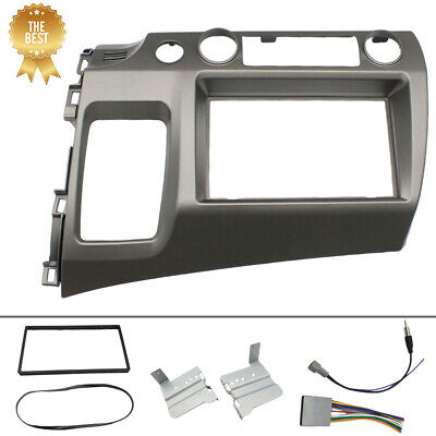 TO 06-11 Honda Civic Double Din Car Radio Dash Kit with Wiring US FREE SHIPPING