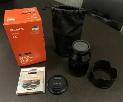 Sony Zeiss Planar T* FE 50mm f/1.4 ZA E-Mount Lens Full-Frame SEL50F14Z Mint
