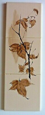 "Rare hand painted 3x6""sq tile panel by Packard & Ord, 1963"