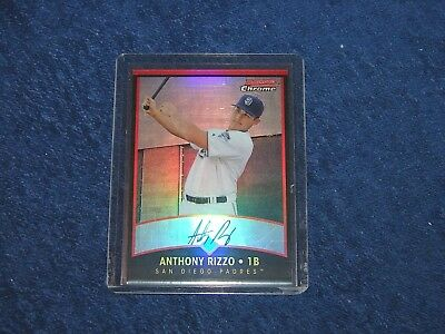 Anthony Rizzo Chicago Cubs 2011 Bowman Chrome Throwbacks Refractor 92/99 (B-296)