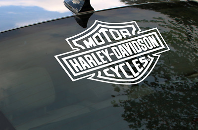 Harley Davidson Shield Motorcycle Bike Rear Window Graphic Sticker Decal T