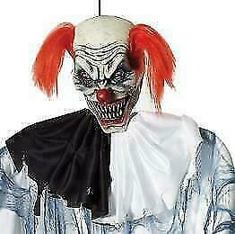 Life Size 6 Ft Hanging Evil Clown Halloween Prop Decoration HAUNTED SPIRIT Yard