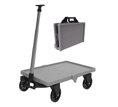 Mighty Hauler Collapsible Folding Utility Wagon - Folds Into 6.5'' Wide Brief...