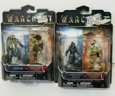 LOTHAR DUROTAN WORLD OF WARCRAFT MINI FIGURE 2-PACKS GARONA ALLIANCE HORDE