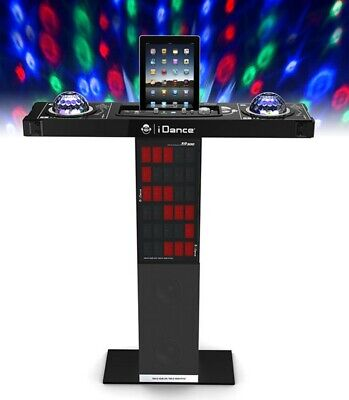Bluetooth Karaoke Party Machine with Lights, 1 Microphone, Aux In & Guitar Input