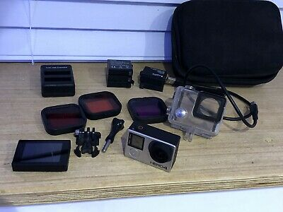 GoPro Hero4 Black Edition  And Extras 5 Battery's Camcorder - Silver