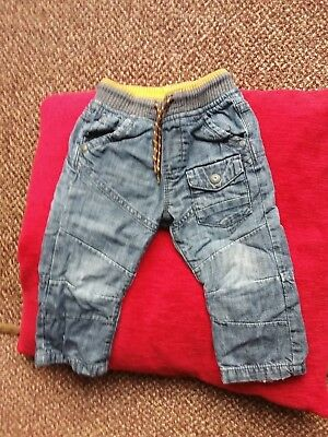 Next - Baby Boys Fully Lined Denim Jeans - Age 12-18 Months (86Cm)