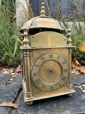Project Upcycle Rare Vintage Brass Lantern Derby Mantal Clock Case Only