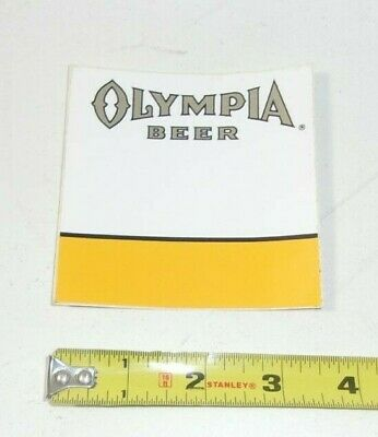 Vintage Olympia Beer Sticker New Old Stock