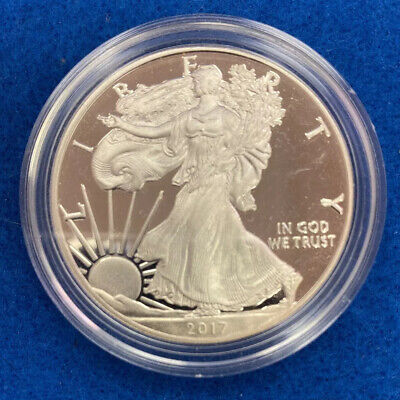 2017 W AMERICAN SILVER EAGLE PROOF DOLLAR US Mint ASE Coin