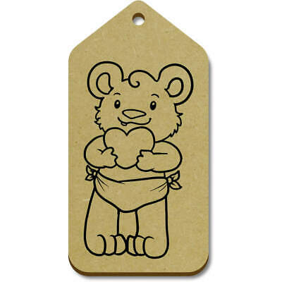 10 x Large /'Baby Alpaca/' Wooden Gift Tags TG00077326