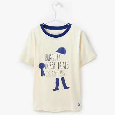 NEW Joules Kids Burghley Horse Trials T-Shirt | Horse Pony Equestrian Print Top