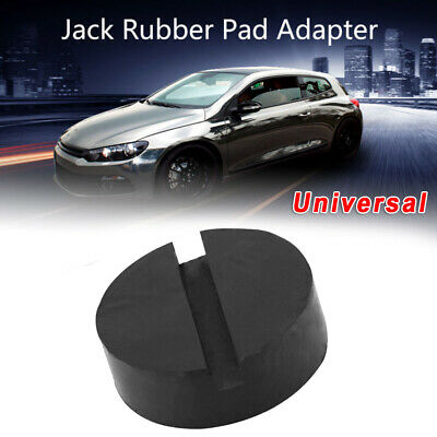 Car Universal Slotted Frame Rail Floor Jack Guard Adapter Lift Rubber Pad 2x