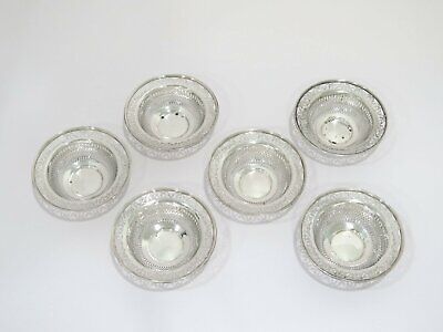 6 piece - 3.75 in - Sterling Silver Whiting Antique Openwork Serving Bowl Set