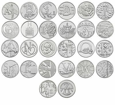 2018 A-Z 10p Coins Unc from Royal Mint Alphabet A to Z Ten Pence Choose Letter