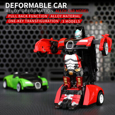 Robot Car Deformation Kids Toys Toddler Vehicle Cool Toy For Boys Xmas Gift JO