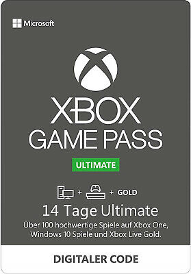Xbox Game Pass Ultimate 14 Tage Mitgliedschaft Xbox One/Win 10 PC Download Code